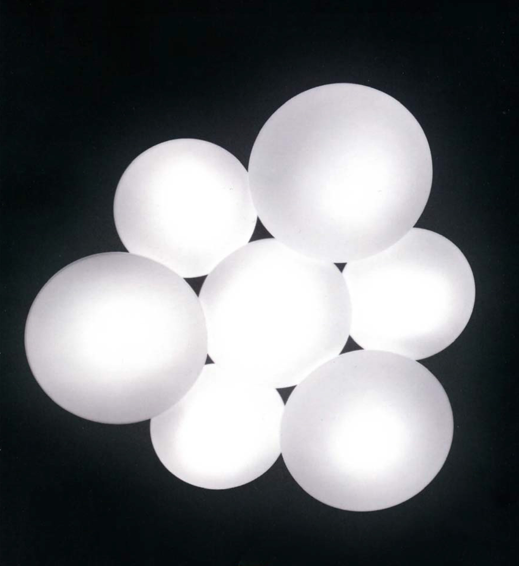 7 light puck - glass flush moun