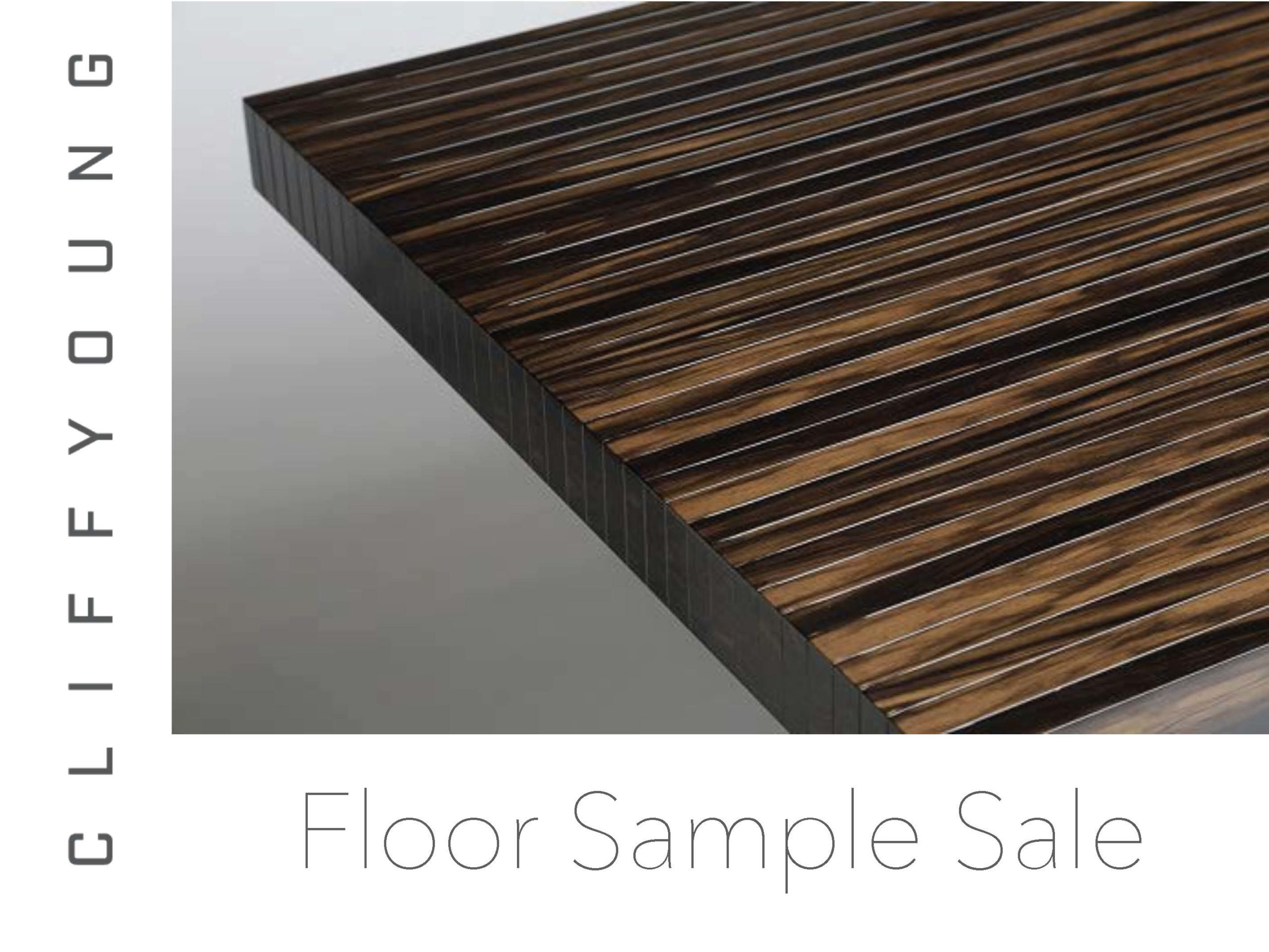 Cliff Young Ltd Catalog_Floor Sample Sale 2020 Cover