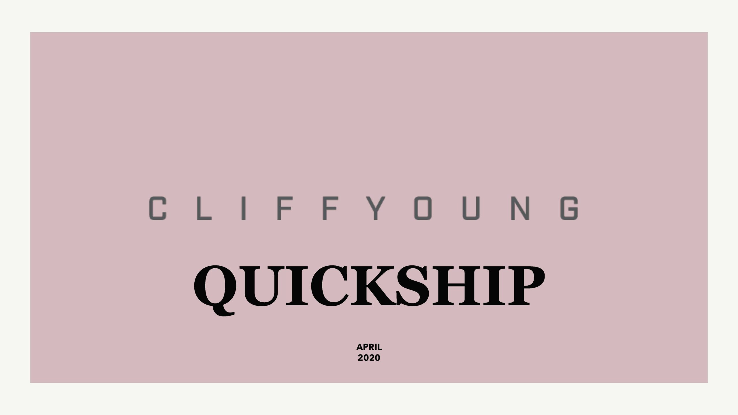 Cliff Young Ltd_Quickship Catalog Cover