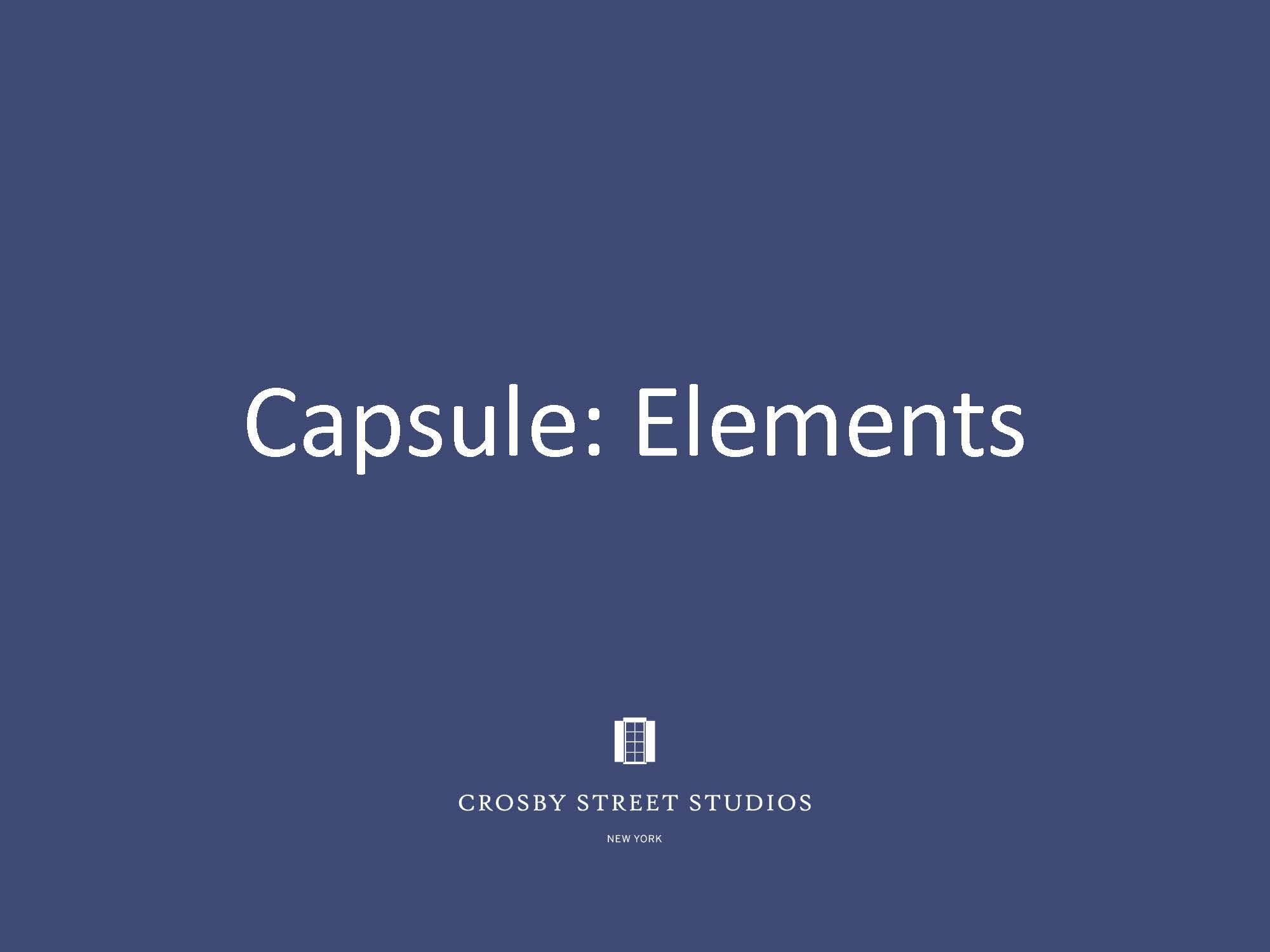 Crosby Street Studio Catalog_Capsule Elements Cover