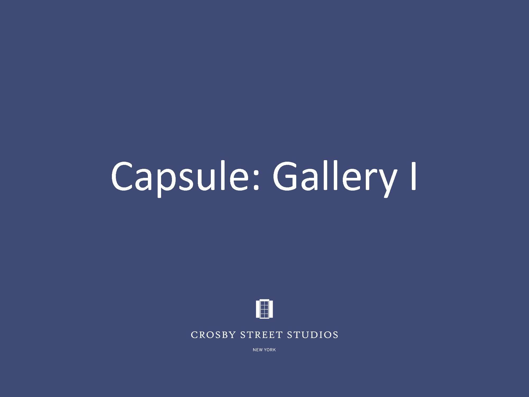 Crosby Street Studio Catalog_Capsule Gallery 1 Cover