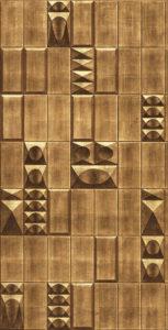 Belsize Tiles in Burton colours on hand-gilded paper