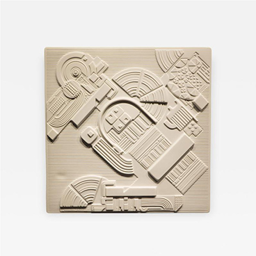 Eduardo Paolozzi Plaque for Rosenthal
