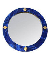 Cosulich_Blue Round Mirror Thumbnail