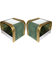 Cosulich_Romeo Rega 1970s Brass and Chrome Open Side Tables Thumbnail