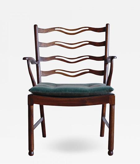 Ole Wanscher Armchair Model No 1755 for Fritz Hansen