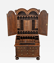 Walnut Bureau Bookcase Thumbnail