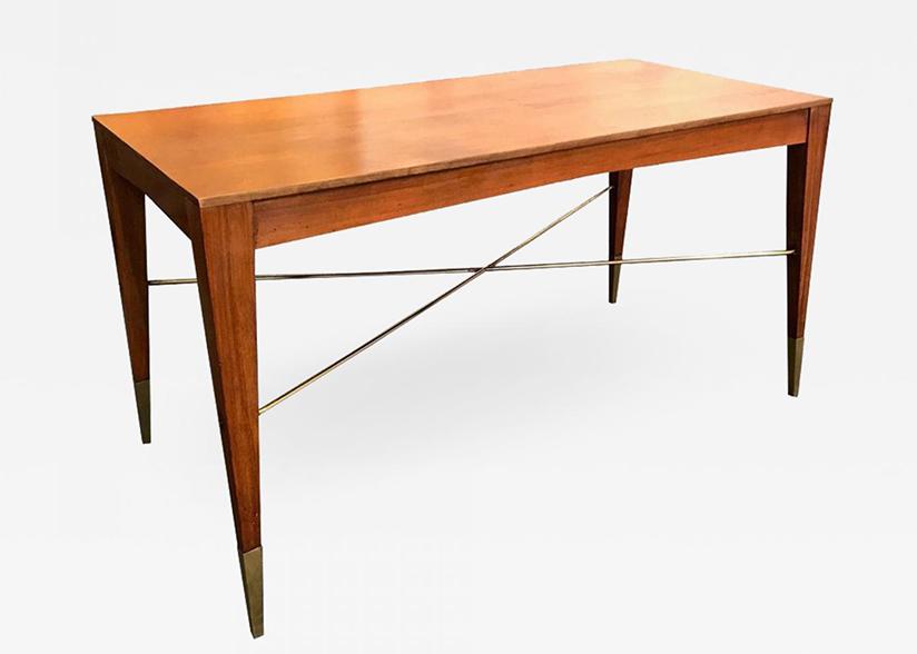 Italian modernist style walnut table desk