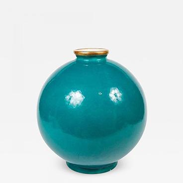 Milord Antiques 3_Maison Jansen Turquoise Blue Glazed Ceramic Vase
