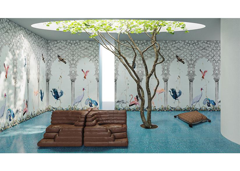 Birds Stone Scenic Wallpaper_Rendering by Charlap Hyman Herrero_ Header Image