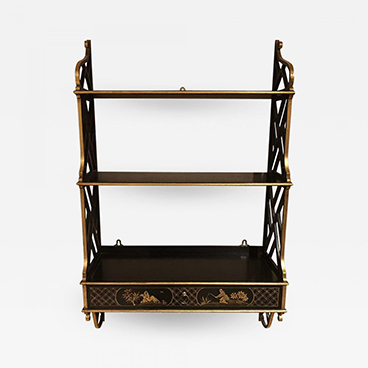 Lacquered Chippendale Style Wall Shelf_Sample 200 Lex