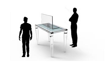 Plexi-Craft Creates Protective Guards_laptop guard with figures