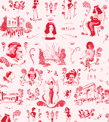 Trans Power Toile Pink Wallpaper by Grant Shaffer_Website Image