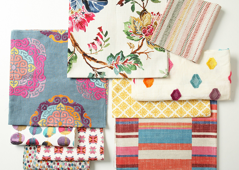 Bold Colorful Fabrics_Pindler Summer Trends_200 Lex_Flat Lay
