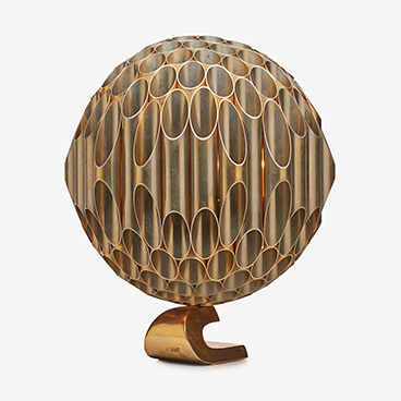 Michel Armand Rare Ruche Boule Lamp