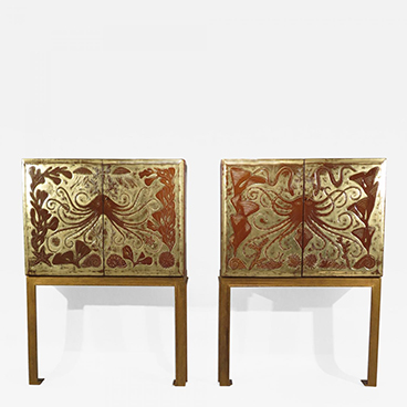 Pair of Octopus cabinets