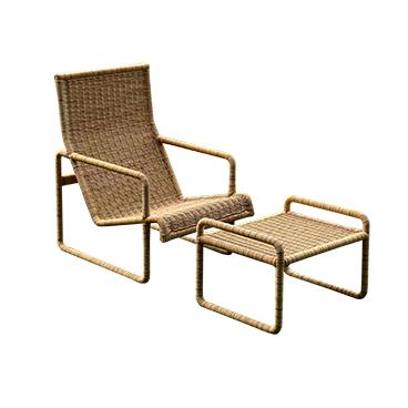 Munder-Skiles_Dessau Chair and Ottoman