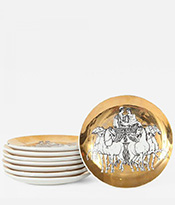 Atelier Fornasetti Coasters wih Chariots
