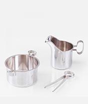 Bertel Gardberg Silver Creamer and Sugar Bowl