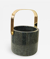 Georges Briard Marble and Brass Ice Bucket