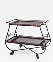 Mathieu Mategot Metal bar Cart or Serving Table