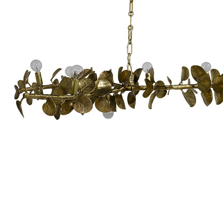 Palecek_Eucalyptus-Leaf-Brass-Chandelier_Gallery-1