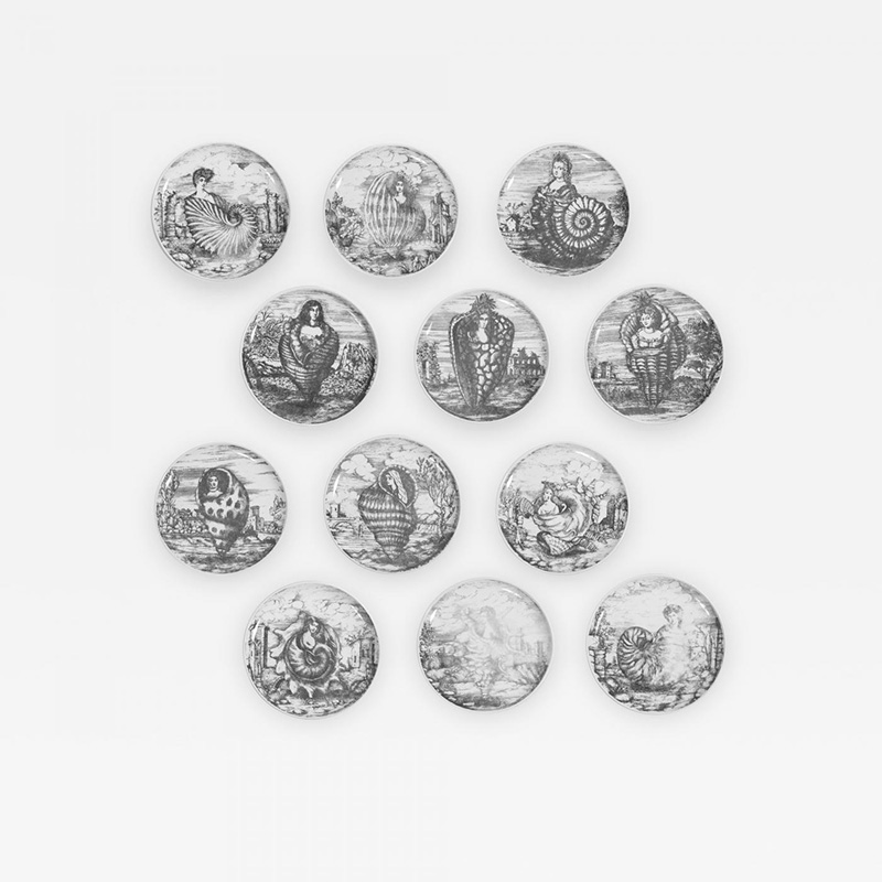 Piero-Fornasetti-Rare-Complete-Set-of-12-Le-Oceanidi-Plates-by-Piero-Fornasetti-271783-798126