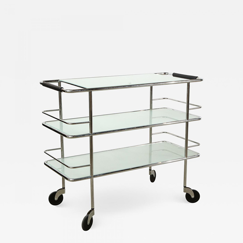Three-Tiered-Chrome-Glass-and-Leather-Bar-Cart-393196-1549219
