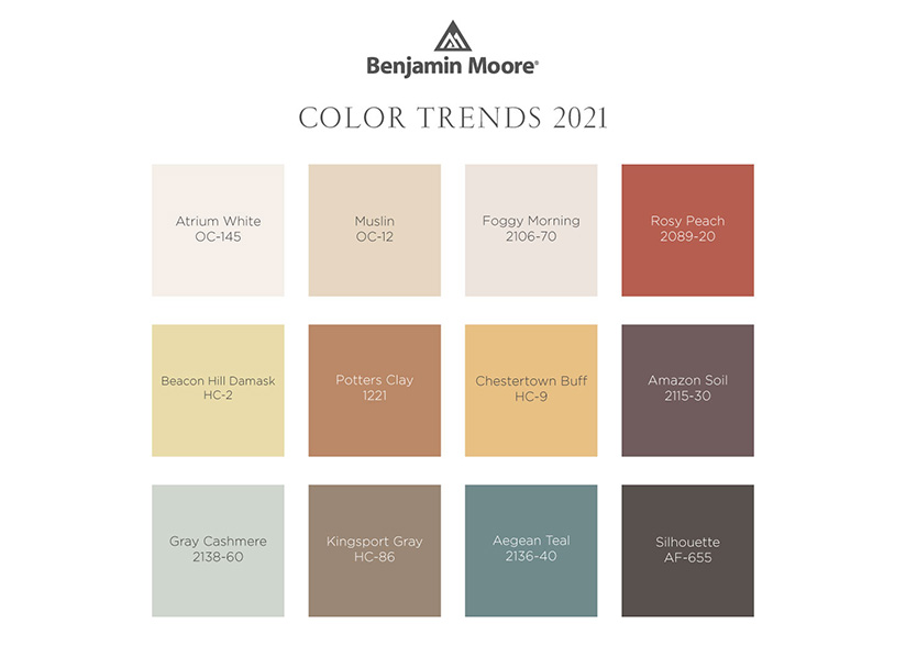 Benjamin Moore_New Year_New Color-2021 Palette