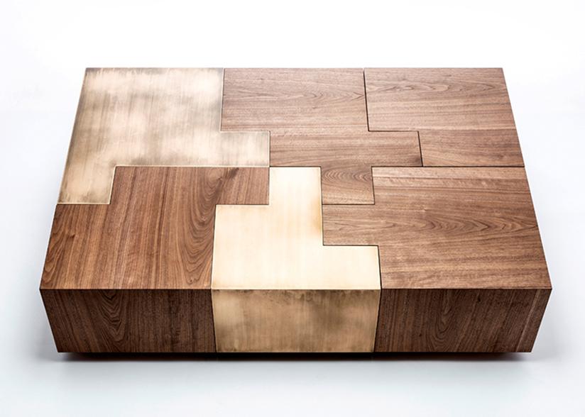 Black Walnut Puzzle Table