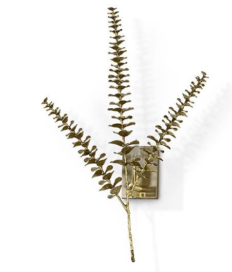 Eucalypse Leaf Brass Sconce