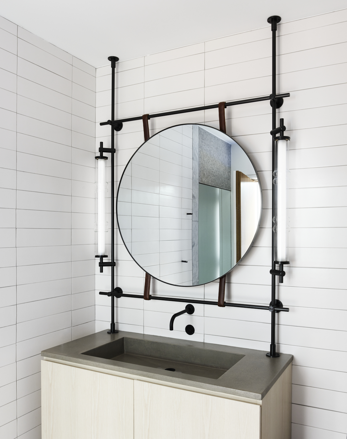 amuneal_products_WNWN_NYDC_collectors_round_vanity_mirror_totem_sconces_Flat