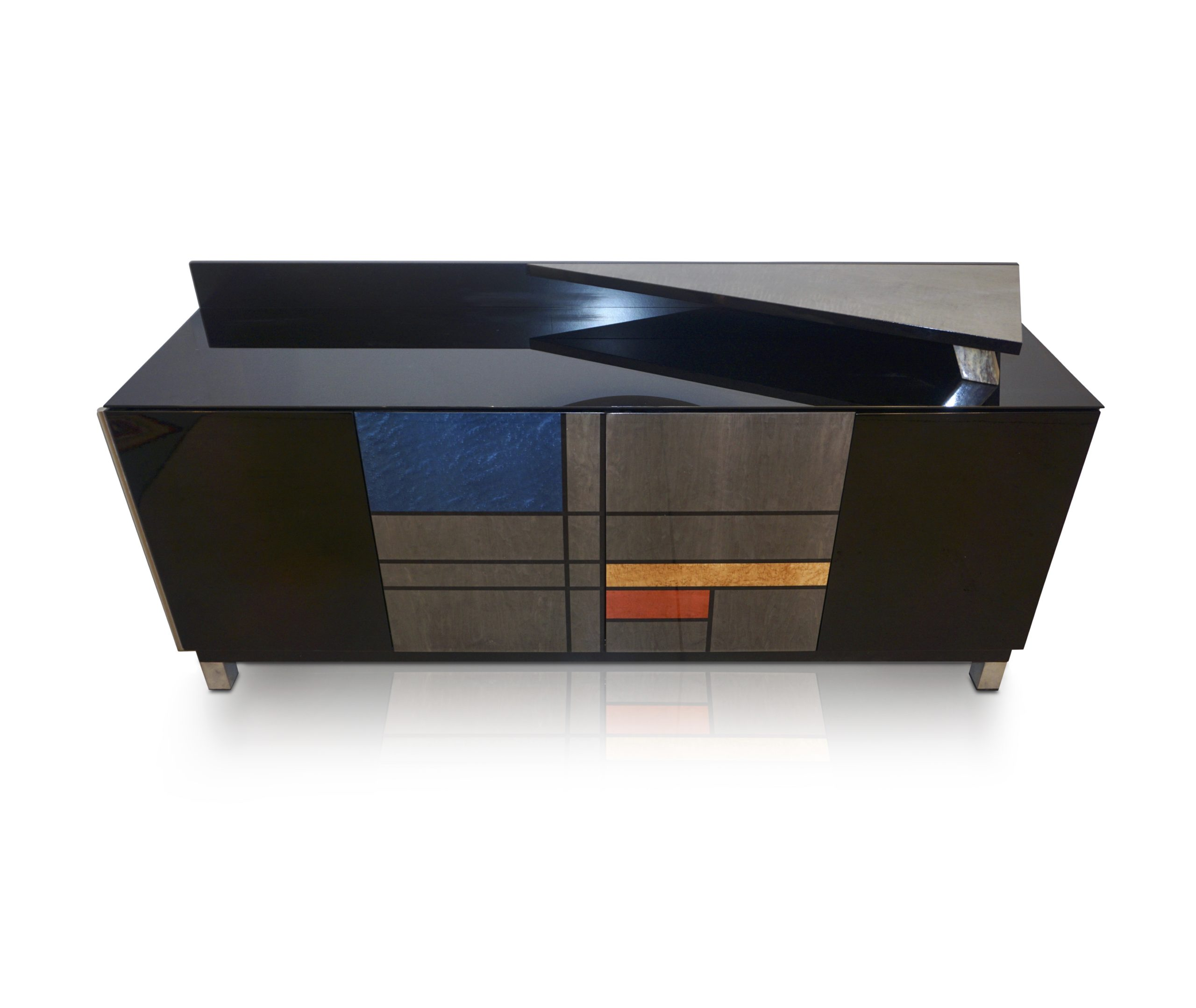 cosulich_interiors_and_antiques_products_new_york_design_1976_Italian_Black_Lacquer_Silver_Grey_Blue_Mondrian_Decor_Bar_Sideboard_image-scaled-1