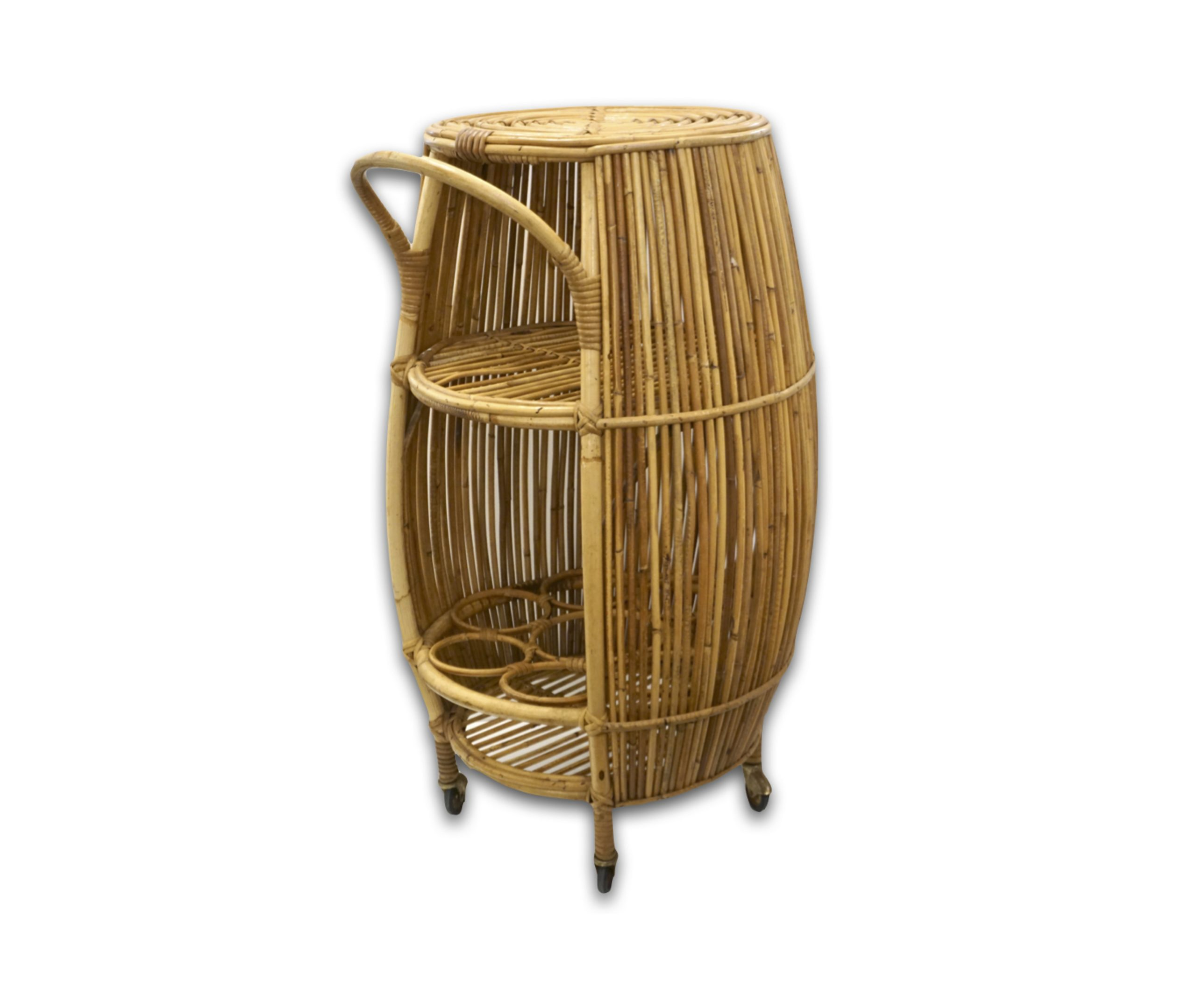 cosulich_interiors_and_antiques_products_new_york_design_bonacina_1950_italian_mid_century_modernnatural_rattan_cylindrical_bar_trolley_side-scaled-1