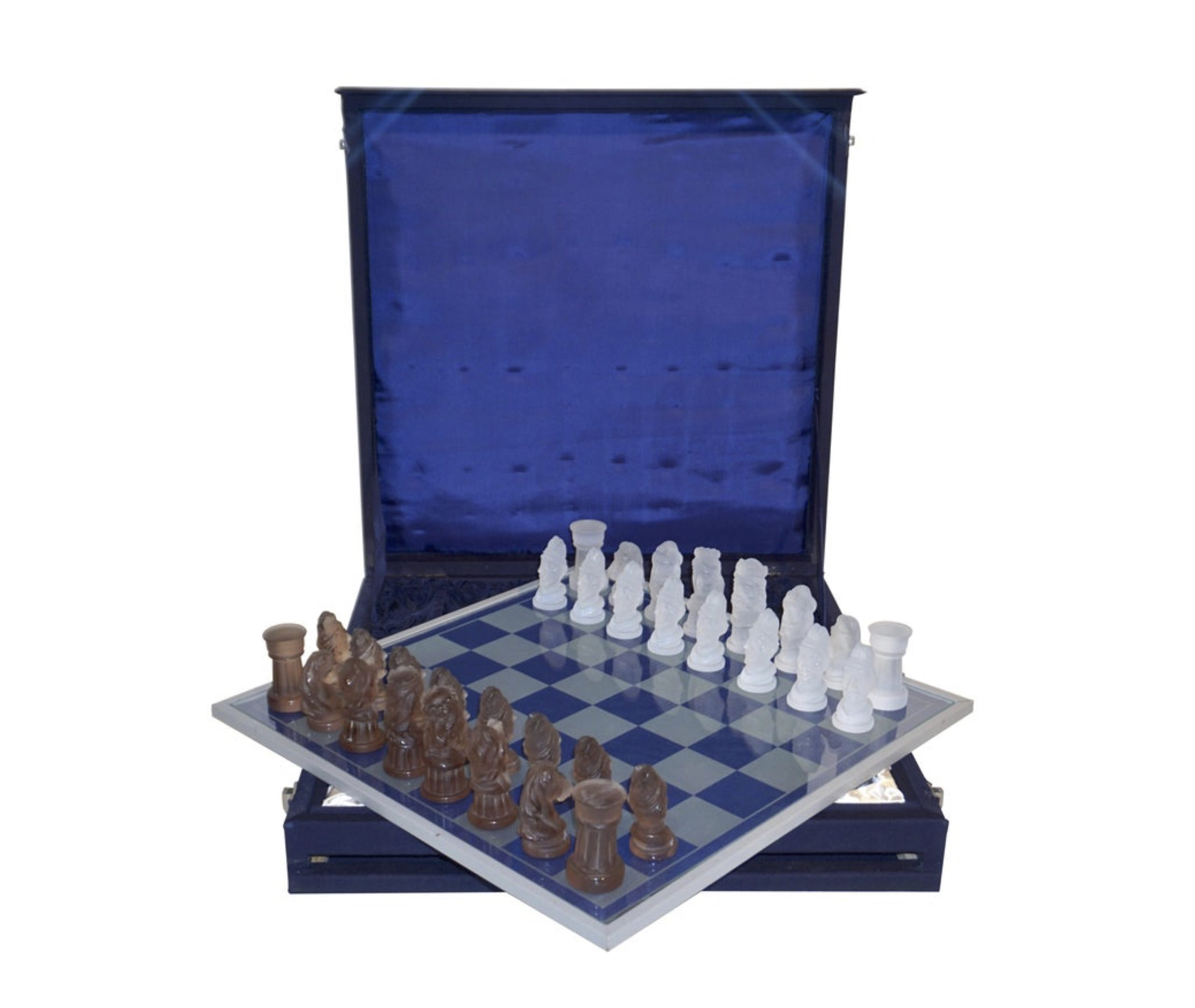 cosulich_interiors_and_antiques_products_new_york_design_center_1960s_vintage_white_bronze_color_bohemia_glass_czech_chess_set_blue_box-scaled-1