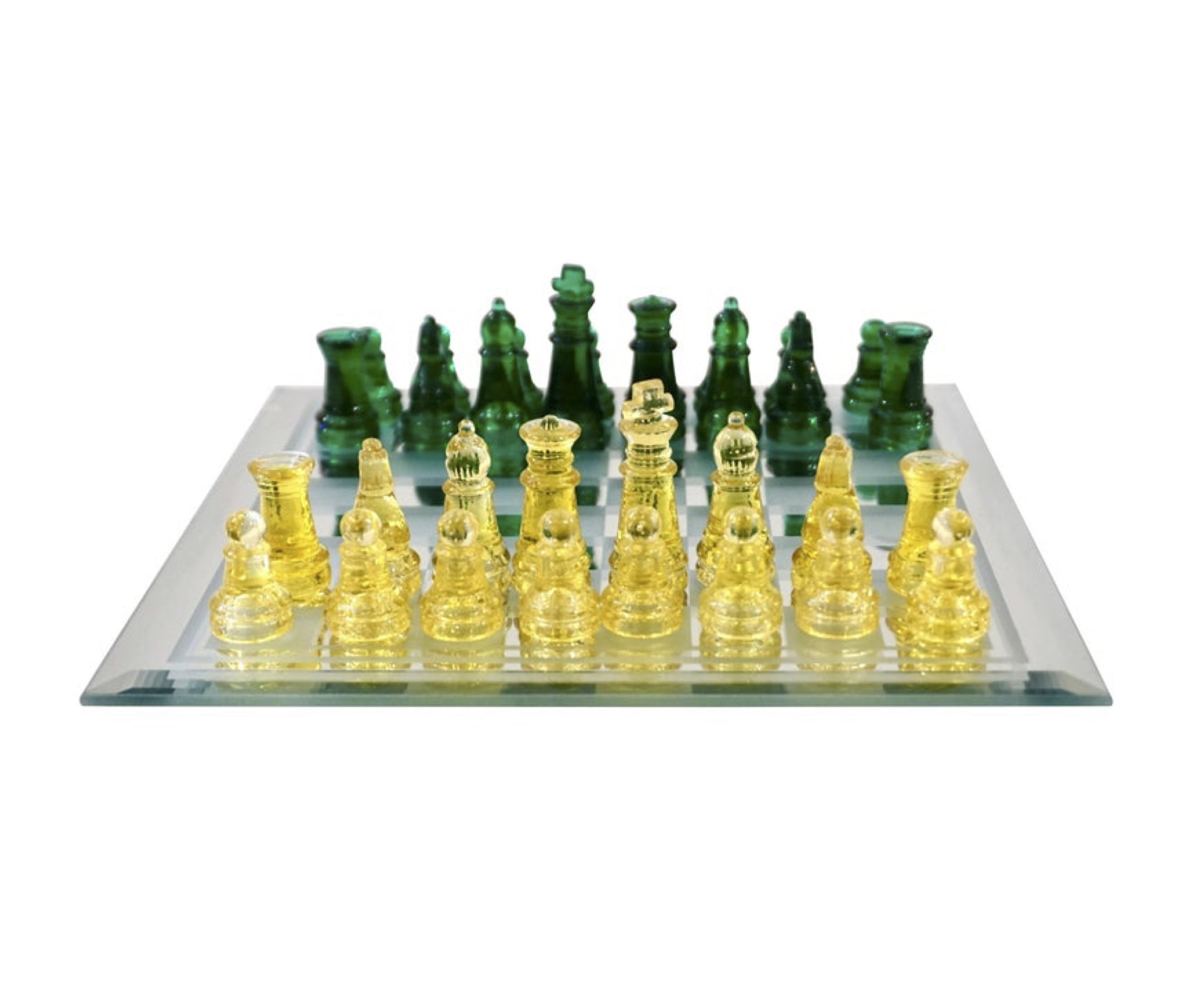 cosulich_interiors_and_antiques_products_new_york_design_contemporary_minimalist_green_yellow_murano_glass_chess_set_mirrored_board-scaled-1