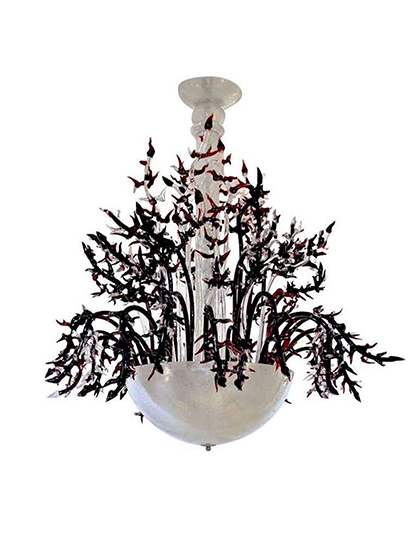 main_cosulich_interiors_and_antiques_products_new_york_design_1980s_Italian_White_Murano_Glass_Chandelier_Decor
