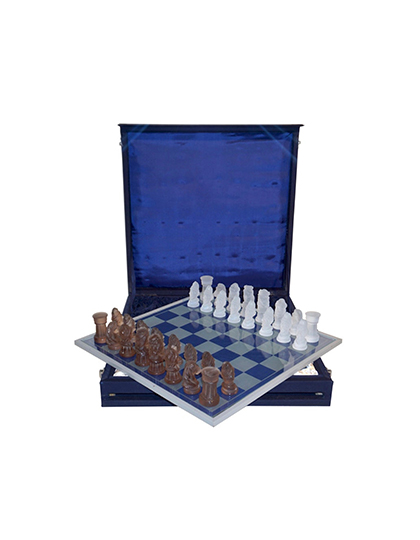 main_cosulich_interiors_and_antiques_products_new_york_design_center_1960s_vintage_white_bronze_color_bohemia_glass_czech_chess_set_blue_box