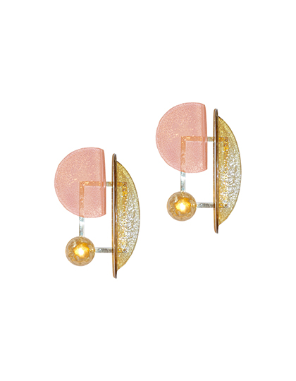 main_cosulich_interiors_and_antiques_products_new_york_design_contemporary_italian_pair_pink_amber_murano_glass_gold_brass_sconces