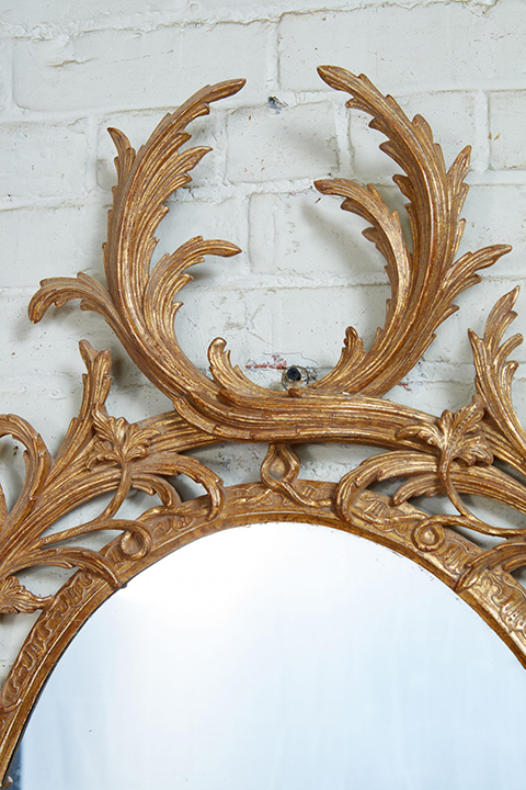 Exceptional George III Oval Mirror Gallery Image 2