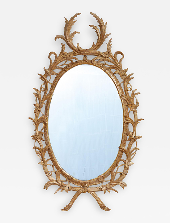 Exceptional George III Oval Mirror Gallery Image