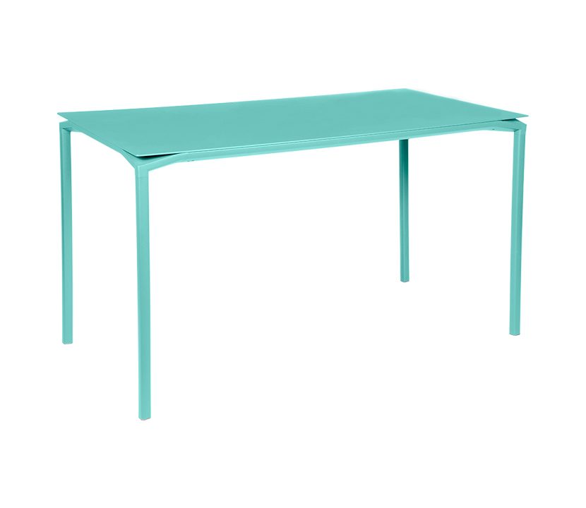Fermob_Luxembourg Calvi High Table 63x31_Gallery Image 1_Lagoon Blue