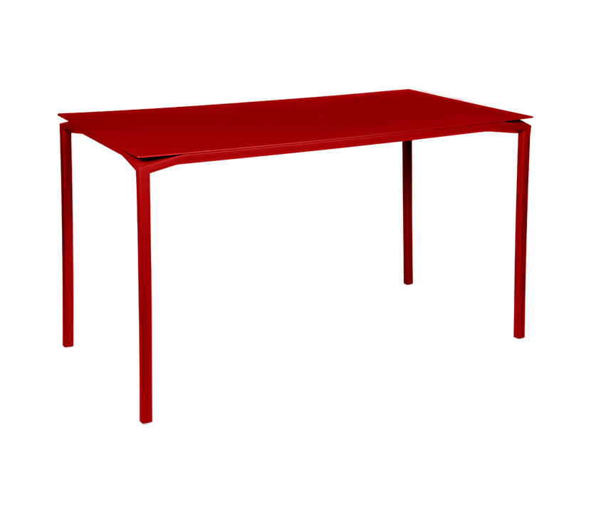 Fermob_Luxembourg Calvi High Table 63x31_Gallery Image 7_Poppy Red