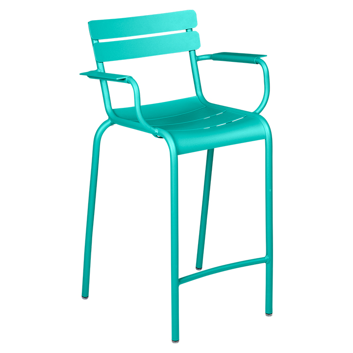 Fermob_Luxembourg High Armchair_Gallery Image 15_Lagoon Blue