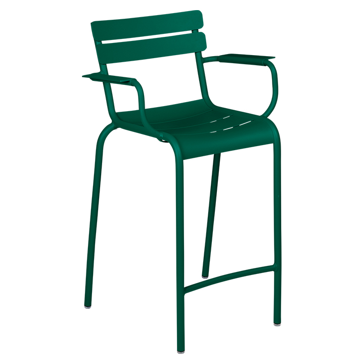 Fermob_Luxembourg High Armchair_Gallery Image 16_Cedar Green