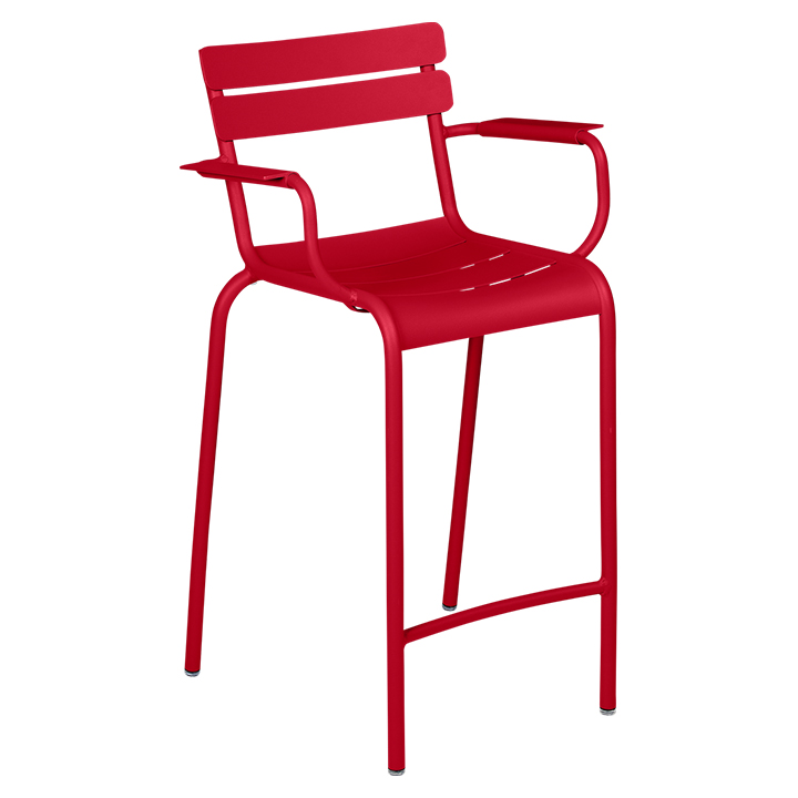 Fermob_Luxembourg High Armchair_Gallery Image 6_Chili Red