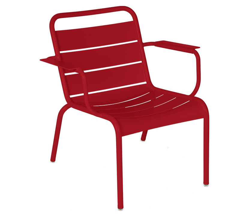Fermob_Luxembourg Lounge Armchair_Gallery Image 7_Chili Red