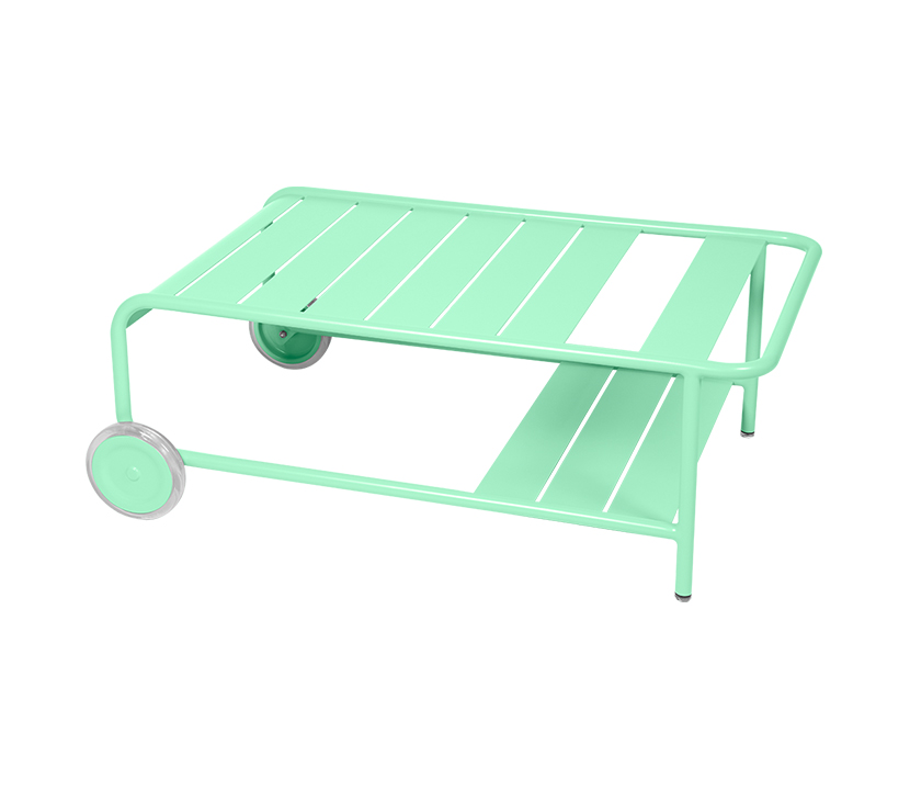 Fermob_Luxembourg Low Table with Casters_Gallery Image 14_Opaline Green