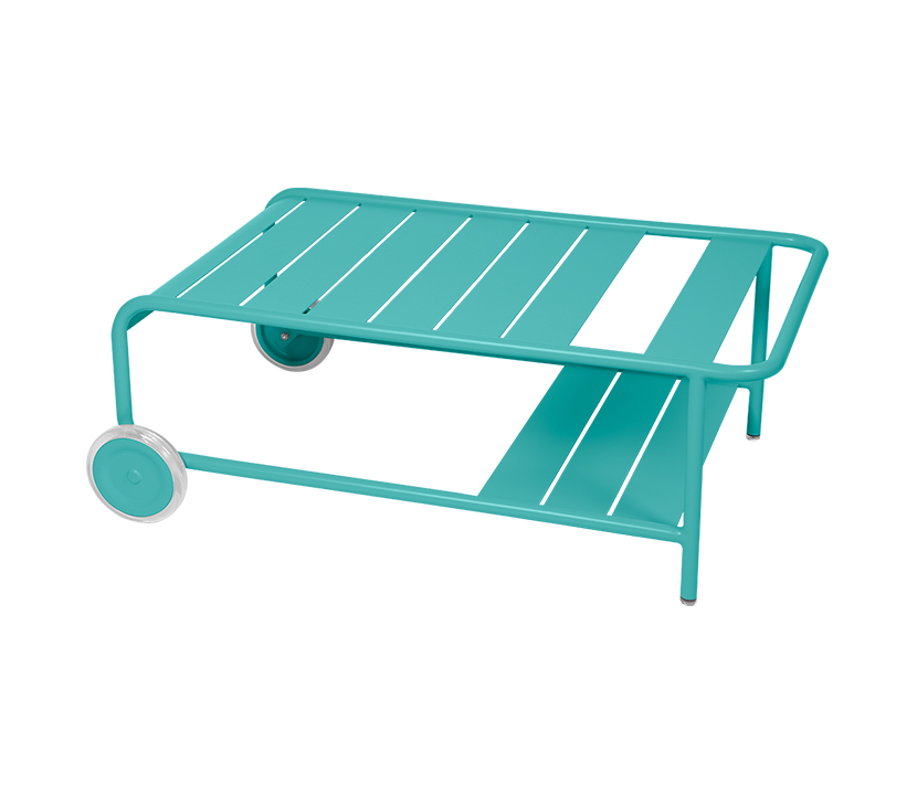 Fermob_Luxembourg Low Table with Casters_Gallery Image 15_Lagoon Blue