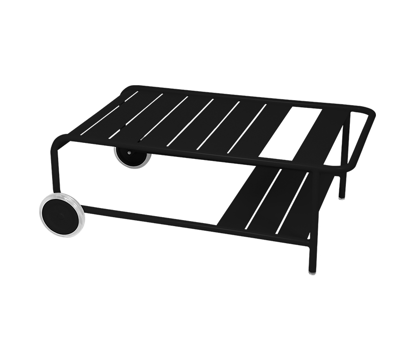 Fermob_Luxembourg Low Table with Casters_Gallery Image 22_Liquorice